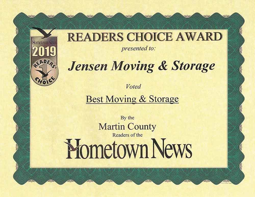 Jensen Beach Award